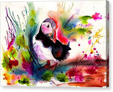 Puffin Canvas Print by Isabel Salvador
