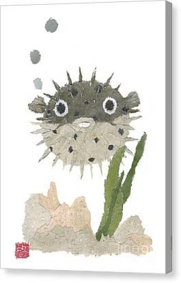 Blowfish Art Canvas Print by Keiko Suzuki