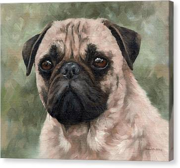 Pug Portrait Painting Canvas Print