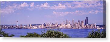 Wa Canvas Print - Puget Sound, City Skyline, Seattle by Panoramic Images