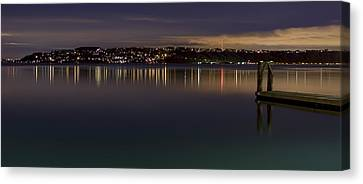 Puget Sound Reflections Canvas Print by Greggory Burt