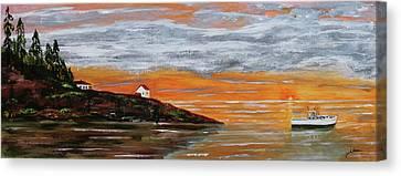 Jack Brauer Canvas Print - Puget Sound Sunset by Jack G  Brauer