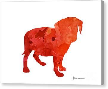 Puggle Art Print Watercolor Painting Canvas Print by Joanna Szmerdt
