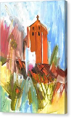 South Of France Canvas Print - Puicheric 01 by Miki De Goodaboom