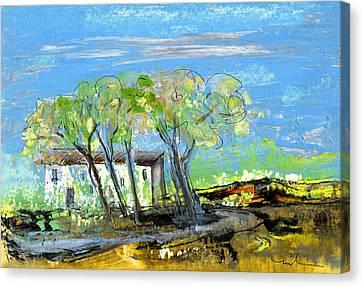 South Of France Canvas Print - Puicheric 04 by Miki De Goodaboom