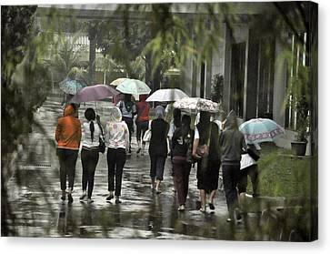 Pulang Bareng Canvas Print by Achmad Bachtiar