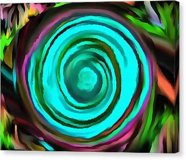 Canvas Print featuring the digital art Pulled by Catherine Lott