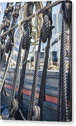 Pulley And Stay Canvas Print