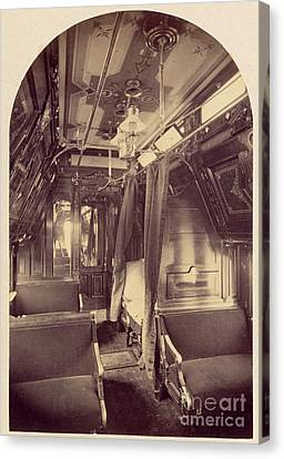 Pullman Palace Sleeping Car 1870 Canvas Print by Getty Research Institute