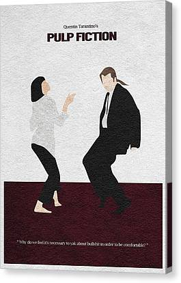 Pulp Fiction 2 Canvas Print by Ayse Deniz