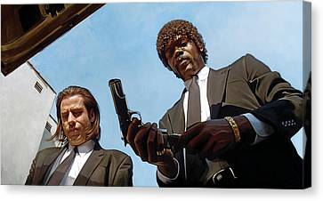 Movie Art Canvas Print - Pulp Fiction Artwork 1 by Sheraz A