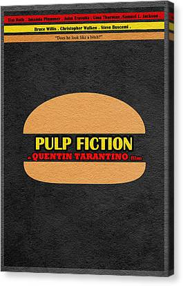 Pulp Fiction Canvas Print by Ayse Deniz