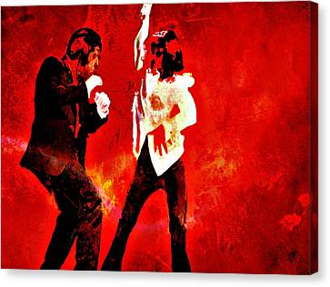 Pulp Fiction Dance 2 Canvas Print by Brian Reaves