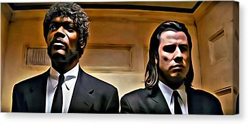 Pulp Fiction Canvas Print by Florian Rodarte