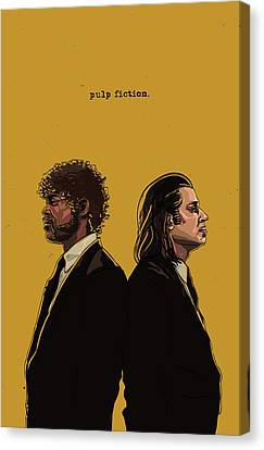 Pulp Fiction Canvas Print by Jeremy Scott