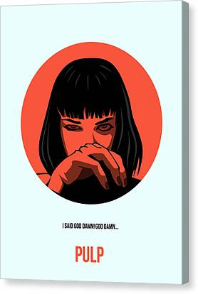 Pulp Fiction Poster 4 Canvas Print by Naxart Studio
