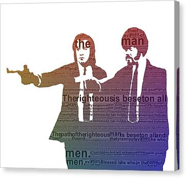 Pulp Fiction Typography Canvas Print by Dan Sproul