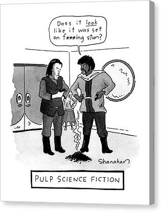 Pulp Science Fiction Canvas Print by Danny Shanahan