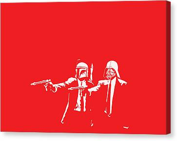 Pulp Wars Canvas Print by Patrick Charbonneau