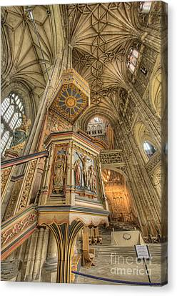 Pulpit I Canterbury Cathedral Kent Uk Canvas Print