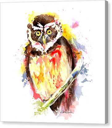 Visual Creations Canvas Print - Pulsatrix Perspicillata by Isabel Salvador
