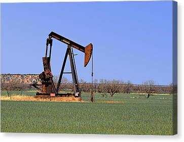 Pump Jack A Texas Icon Canvas Print by Christine Till