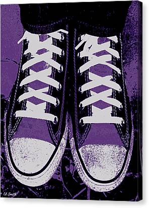 Pumped Up Purple Canvas Print by Ed Smith