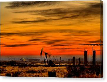Pumpjack In Motion Canvas Print