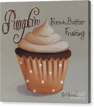 Pumpkin Brown Butter Frosting Cupcake Canvas Print