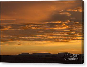 Pumpkin Buttes At Sunrise Canvas Print