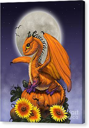 Pumpkin Dragon Canvas Print by Stanley Morrison