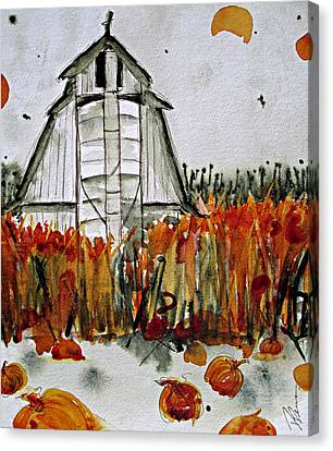 Pumpkin Dreams Canvas Print by Dawn Derman