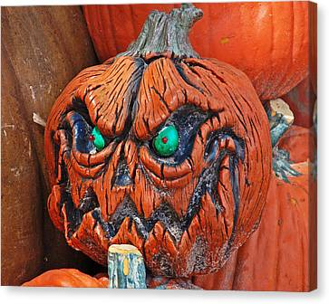 Pumpkin Face Canvas Print