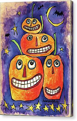 Pumpkin Family Canvas Print