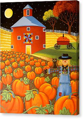 Pumpkin Harvest Canvas Print by Mary Charles