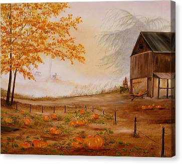 Pumpkin Patch Canvas Print by RJ McNall