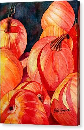 Pumpkin Pile Canvas Print by Ruth Bodycott