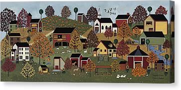 Pumpkin Season Canvas Print by Medana Gabbard