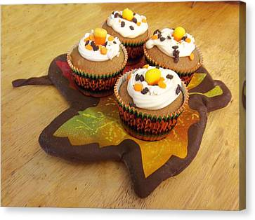 Pumpkin Spice Cupcakes Canvas Print by Rosalie Klidies