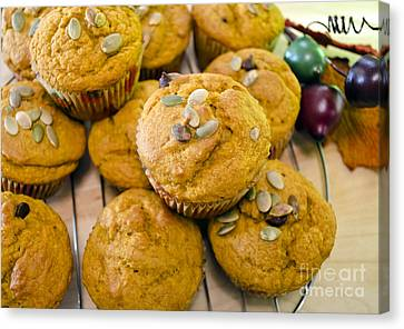 Canvas Print featuring the photograph Pumpkin Spice Muffins For Fall by Maria Janicki