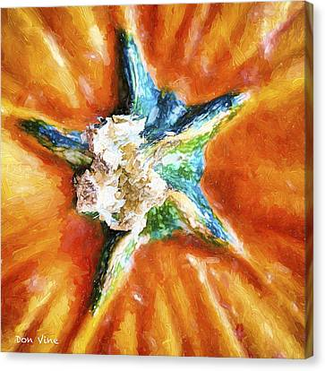 Pumpkin Star Canvas Print