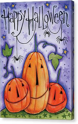 Pumpkin Trio Canvas Print
