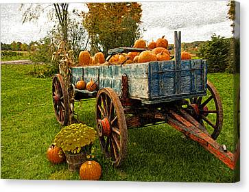 Pumpkins Canvas Print by Bill Howard