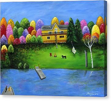 Pumpkin's Honeybear Cottage Canvas Print by Brianna Mulvale