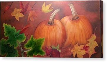 Pumpkins Canvas Print by Valorie Cross