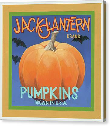 Pumpkins Canvas Print by Wild Apple Graphics