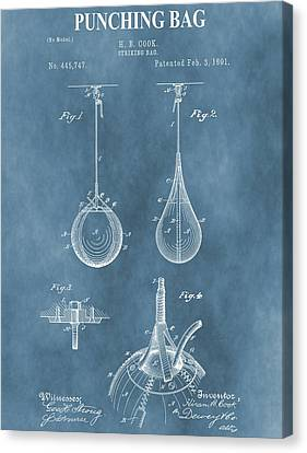 Boxer Canvas Print - Punching Bag Patent by Dan Sproul
