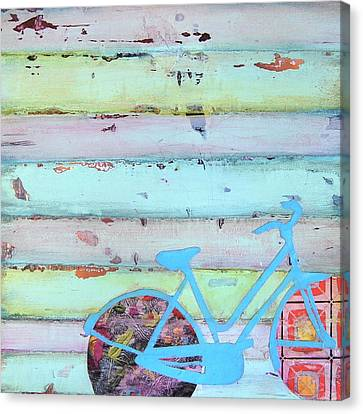 Punctured Bicycle Canvas Print