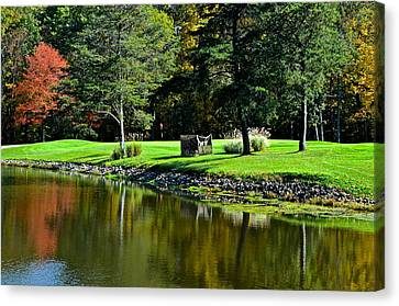 Punderson Golf Course Canvas Print by Frozen in Time Fine Art Photography