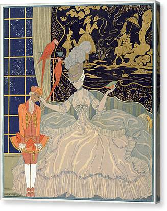 Punishing The Page  Canvas Print by Georges Barbier